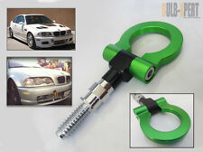 FRONT REAR BUMPER SCREW ON TOW HOOK KIT GREEN FOR BMW 325 335I 330 328 318 M3