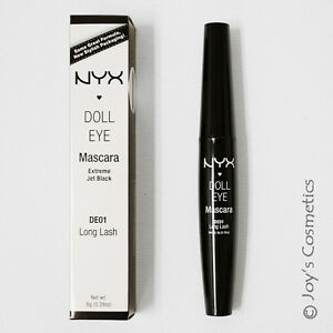 "1 NYX Doll Eye Mascara ""DE01 Long Lash"" Joy's Cosmetics"