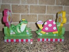 Turtle And Frog Cut Out Bookends For Little Girls