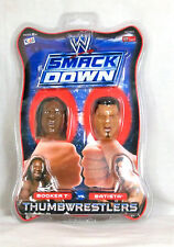 WWE / Thumbwrestlers / Batista / Booker T / 1/6th scale heads / New Carded