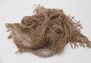 Natural Rustic Woven Newborn Burlap Hessian Layer Blanket Photo Prop 110x100cm