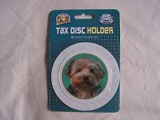 Sawley Fine Arts Faithful Friends Collectables YORKSHIRE TERRIER TAX DISC HOLDER