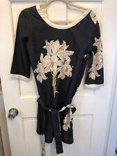 d4a7c8f0b47 Samantha Sung Lily Printed Silk Drop Waist Belted Dress 4
