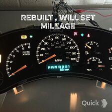 Speedometer cluster guage. 00 01 02 Silverado,Tahoe  1500,125k miles or will set
