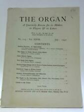 The Organ. A Quarterly Review For Its Makers, Its Pl (Various - 1947) (ID:62439)