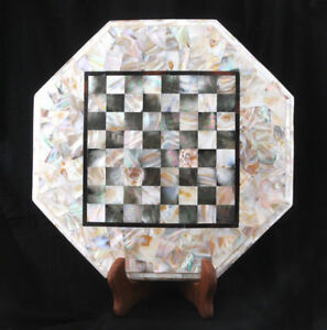 """18"""" marble Chess Table Top Inlay Home Decor And Gift"""