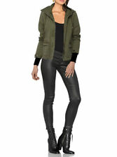 Parkas Casual Solid Regular Size Coats & Jackets for Women