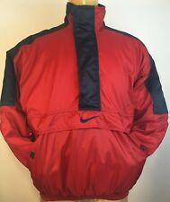 Nike Vintage 90s Red Blue Pullover Parka Medium A+ Condition Fits Like Large