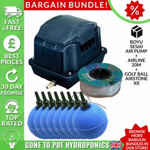 Boyu Air Pump Discount Bundle - SES60, Airline 20m, Golf Ball Airstone x8