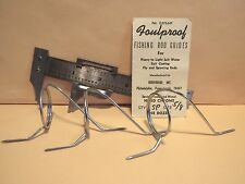 """(3) VINTAGE GUDEBROD'S NON-FOULING / HARD CHROME / ROD GUIDES 1 1/8"""" ID / NOS"""