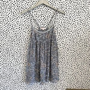Victorias Secret Angels Sheer Gray Floral Babydoll Lingerie Size Small S