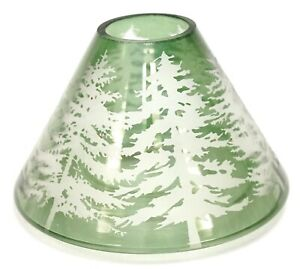 New Yankee Candle Balsam Tree Green Clear Glass Large Jar Shade