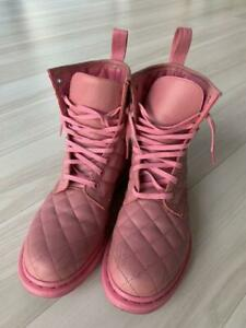 DR.MARTENS Women's Shoes pink Lace Up boots Size 38 Made in Thailand #6345A