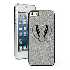 For Apple iPhone 4 4S 5 5S 5c GLITTER Bling Hard Case Heart Baseball Softball