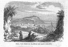 VUE DE NICE GRAVURE ILLUSTRATION 1863