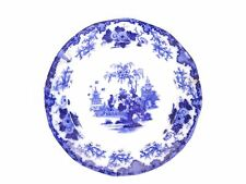 Scinde J G Alcock flow blue antique English white salad plate as is
