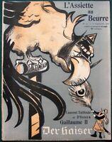 L'Assiette au Beurre #75 Kaiser Wilhelm II Parodies 1902 French Satire Art