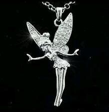 Austrian Crystal Charm Tinkerbell Fairy Necklace birthday Christmas bridle 0072
