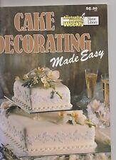 Australian Women's Weekly CAKE DECORATING MADE EASY - Mary Medway pb euc