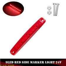 1x Red 9 SMD LED Truck Car Side Marker Indicator BUS Lights Signal Lamp 24V New