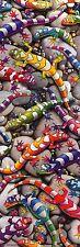 ART POSTER~~Colorful Gecko Lizards Rainbow Collection Door Vertical Print~~