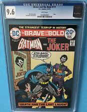BRAVE AND THE BOLD #111 Batman The JOKER  CGC 9.6 WHITE Jim Aparo Art Cover