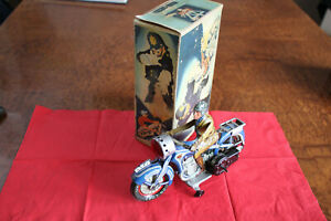 Vintage * Tin * ARNOLD * MOTORCYCLE * A-643 * US.Zone GERMANY * with BOX