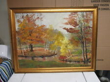 mid century modern landscape painting