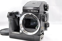 ◉NEAR MINT+++◉ ZENZA BRONICA ETRS BODY W/ AE II FINDER,120 FILM BACK FROM JAPAN
