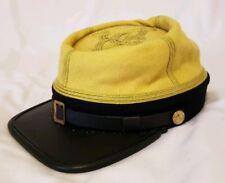 American Civil War Confederate Calvary Officers (Maj-Col) Kepi Visor Hat Cap