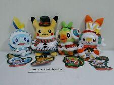 Pokemon Plush Doll Pikachu Scorbunny Sobble Grookey Pokemon Christmas Wonderland