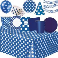 Royal Blue Party Tableware, Decorations and Balloons