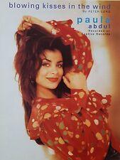 Paula Abdul: soplar besos en el viento (piano/Vocal/Guitarra Partituras) -! como Nuevo!