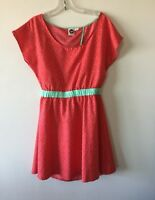 Roxy Mini Dress Coral Cut Outs Women's Large NWOT
