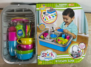 Spark Create Imagine Kitchen Sink Play Set, 20 Pieces, Ages 3+ New