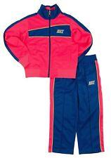 Brand New Girls Nike Pink Blue Warmup Cheer Workout Jacket Set Tracksuit Size 6X