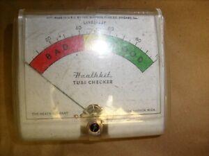 Original Heathkit TC-2 tube Tester original -  PANEL METER