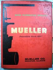 1961 MUELLER Valve Catalog ASBESTOS Gasket Service Line Fire Hydrant