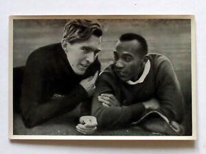 Olympics 1936 Jesse Owens USA Reemtsma long jump, 1936 Summer Olympics, US-Star
