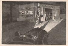 Y8924 Huiles TONELINE - Pubblicità d'epoca - 1929 Old advertising