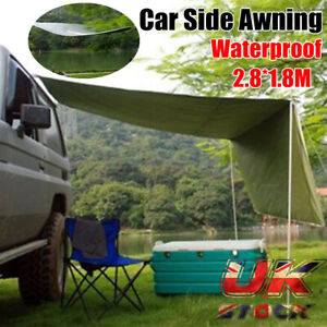 UK Portable Car Side Awning Rooftop Tent Sunshade Outdoor Camping Travel Tents