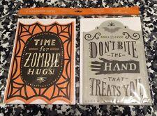 HALLMARK ZOMBIE HUGS HALLOWEEN CARDS TOMBSTONE TRICK OR TREAT NIP 6