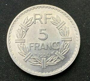 1950 France  5 Franc  Coin UNC  World Coin    #B343