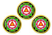 Ganesha Yantra Hindou Marqueurs de Balles de Golf