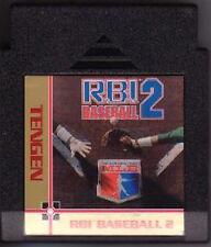 RBI BASEBALL R.B.I 2 TWO 2 BLACK CART CLASSIC NINTENDO GAME ORIGINAL NES HQ
