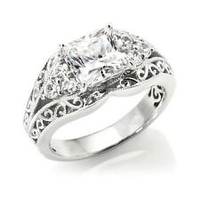 XAVIER 2.36 CT ABSOLUTE STERLING SILVER SCROLL DESIGN RING SIZE 9 HSN SOLD OUT
