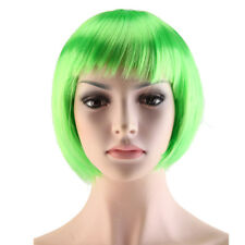 Anime Cosplay Full Wig Long Curly Short BOB Hair Multi Color Synthetic Highlight