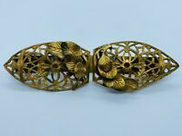 "Edwardian NATTY CREATIONS Gold Tone Filigree Filigree ""Shoe Clip"" Scarf Clip"