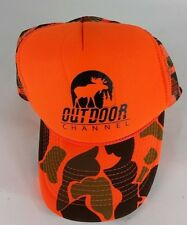dc90fdd52fc Vintage The Outdoor Channel orange camo Otto Snapback trucket mesh hat  still new