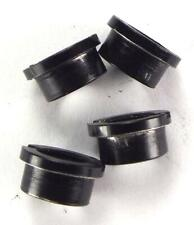 GENUINE SHIMANO - BLACK ALLOY - SINGLE CHAIN RING - 4 X SLOTTED NUT SET